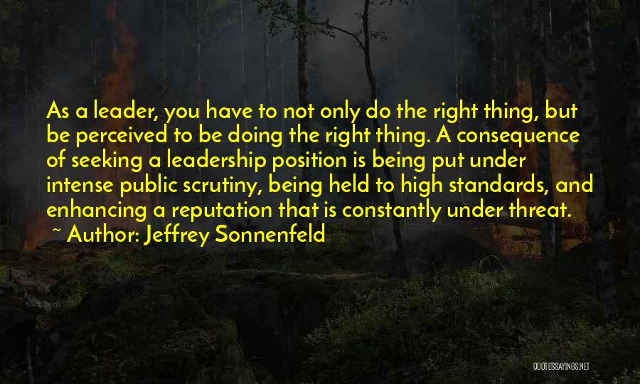 Integrity And Leadership Quotes By Jeffrey Sonnenfeld