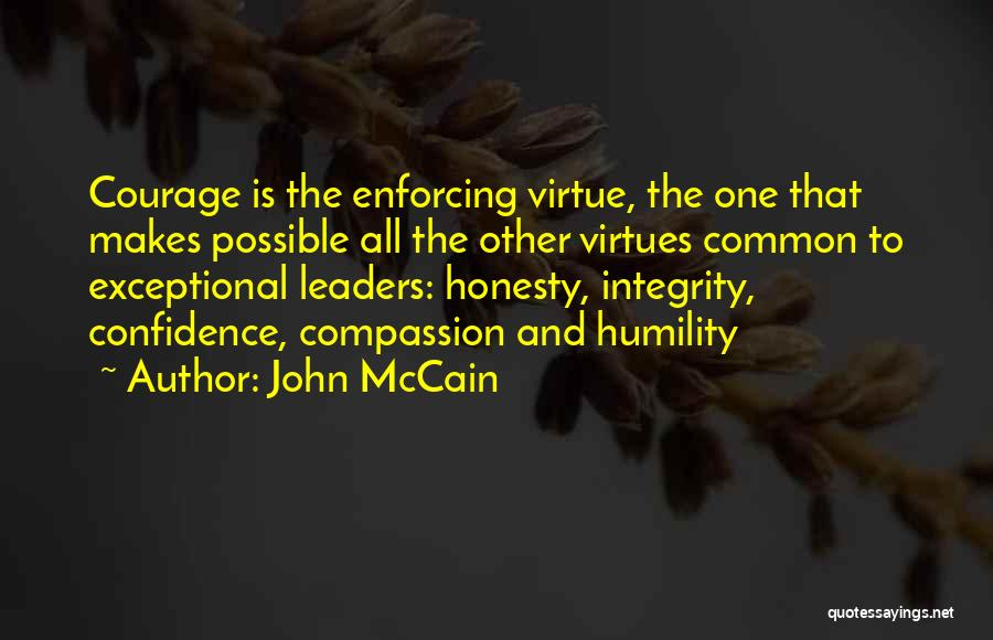 Integrity And Leadership Quotes By John McCain
