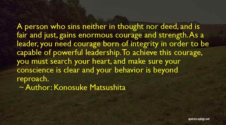 Integrity And Leadership Quotes By Konosuke Matsushita