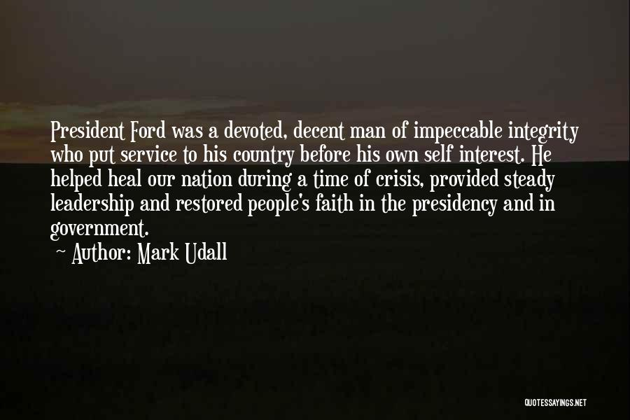 Integrity And Leadership Quotes By Mark Udall