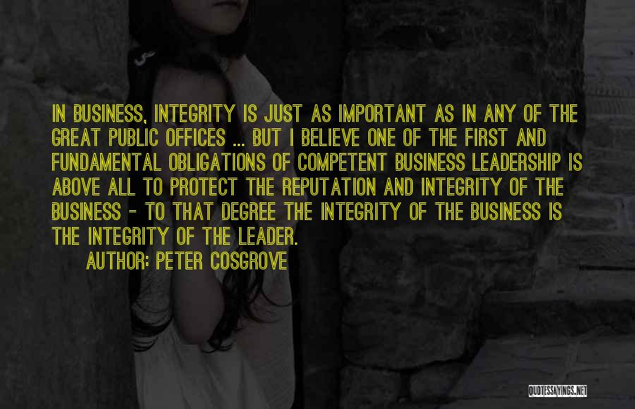 Integrity And Leadership Quotes By Peter Cosgrove