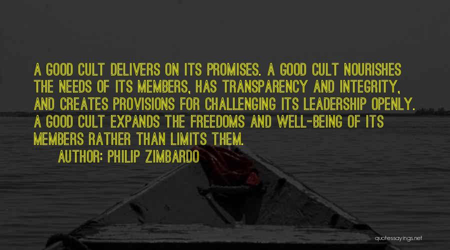 Integrity And Leadership Quotes By Philip Zimbardo