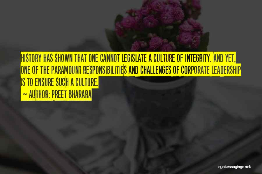 Integrity And Leadership Quotes By Preet Bharara