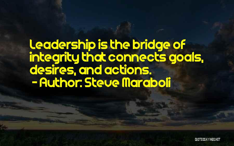 Integrity And Leadership Quotes By Steve Maraboli