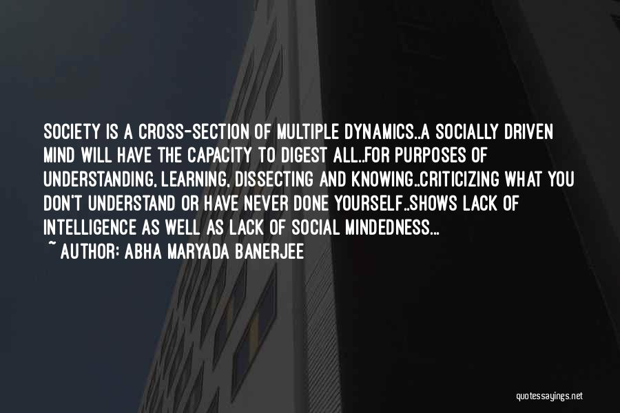 Intelligence And Learning Quotes By Abha Maryada Banerjee