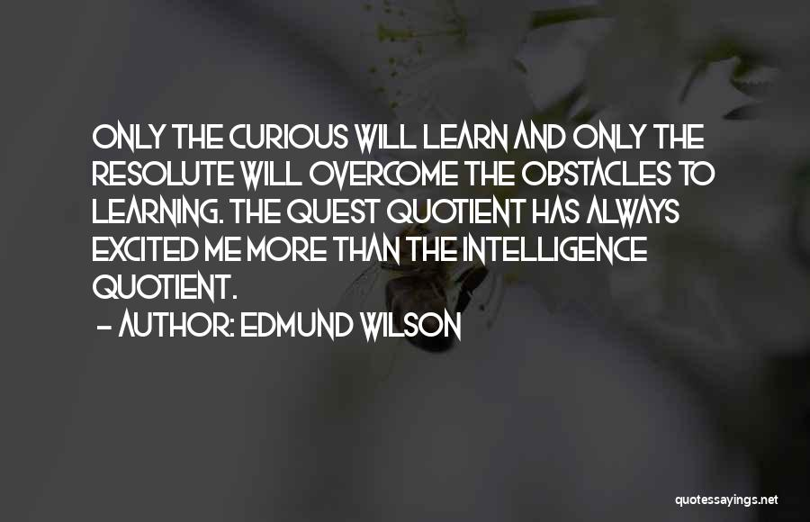 Intelligence And Learning Quotes By Edmund Wilson