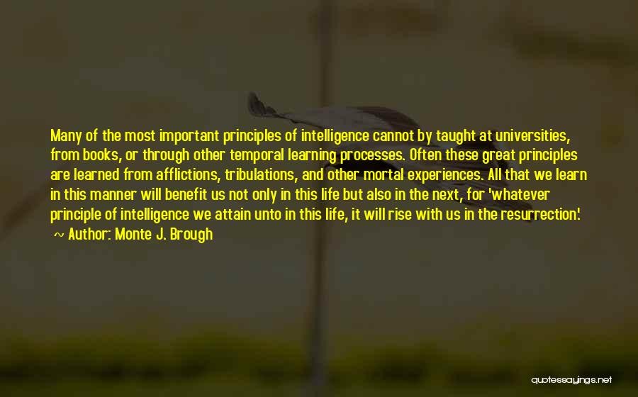Intelligence And Learning Quotes By Monte J. Brough