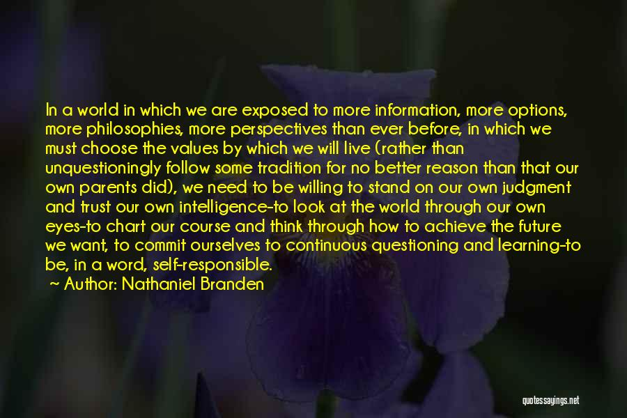 Intelligence And Learning Quotes By Nathaniel Branden