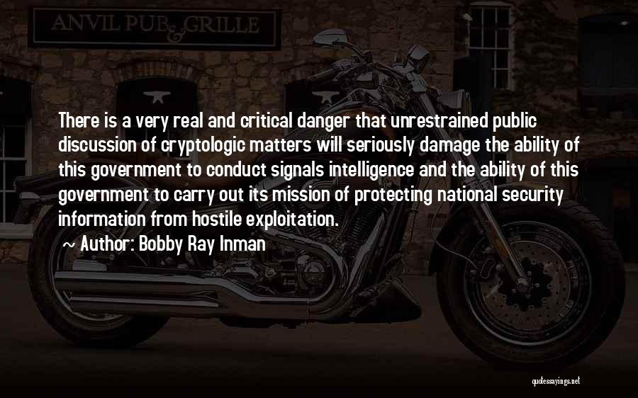 Intelligence And Security Quotes By Bobby Ray Inman