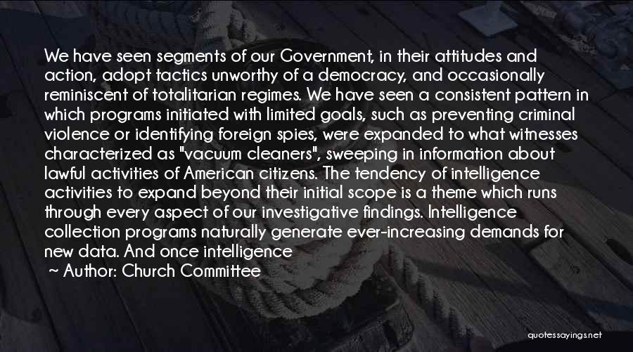 Intelligence And Security Quotes By Church Committee