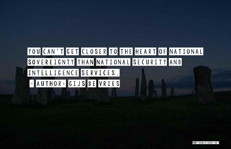 Intelligence And Security Quotes By Gijs De Vries