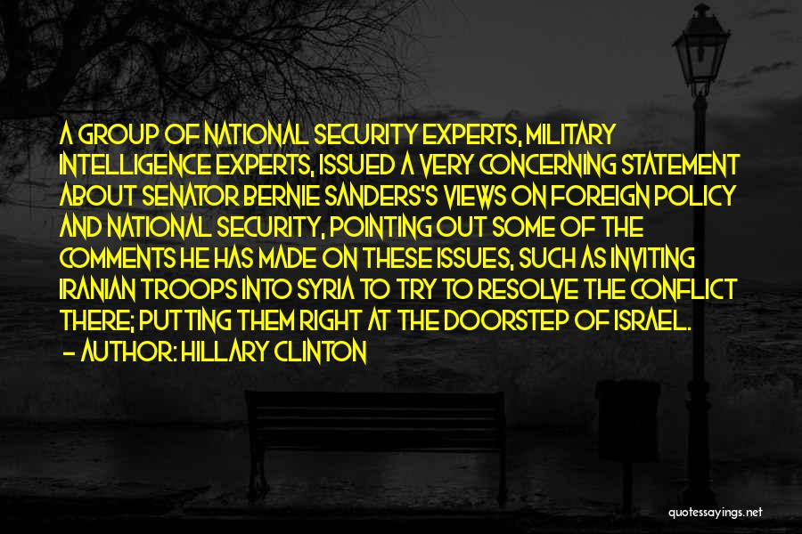 Intelligence And Security Quotes By Hillary Clinton