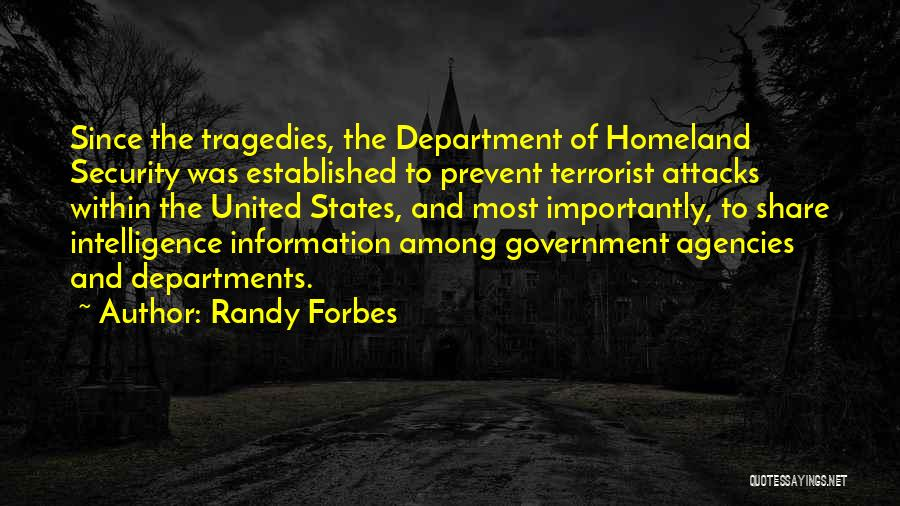 Intelligence And Security Quotes By Randy Forbes
