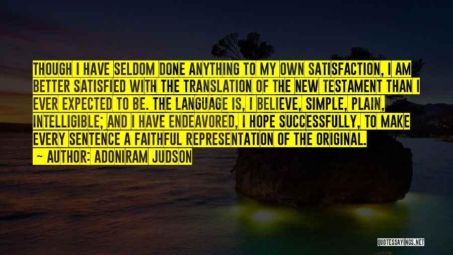 Intelligible Quotes By Adoniram Judson