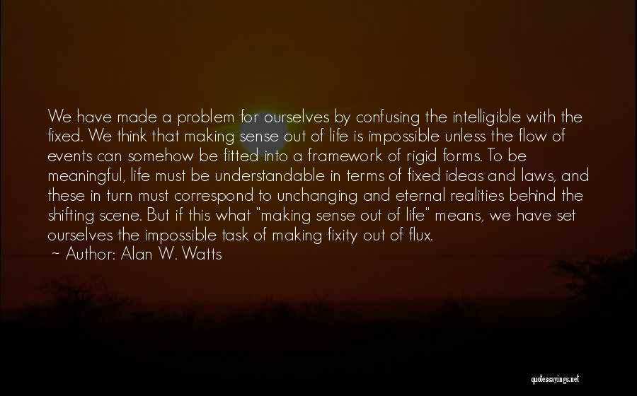 Intelligible Quotes By Alan W. Watts