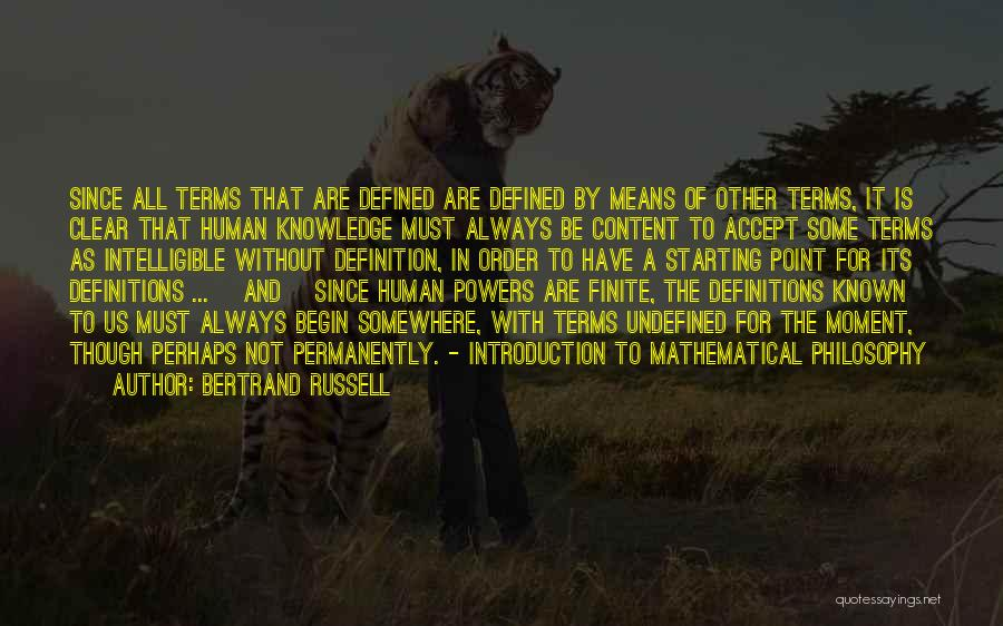 Intelligible Quotes By Bertrand Russell
