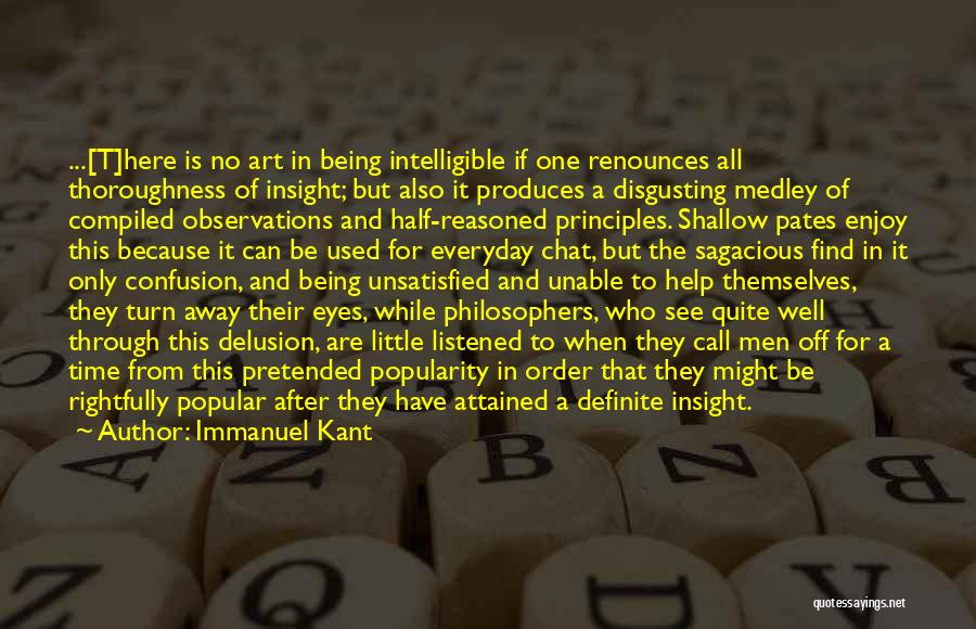 Intelligible Quotes By Immanuel Kant