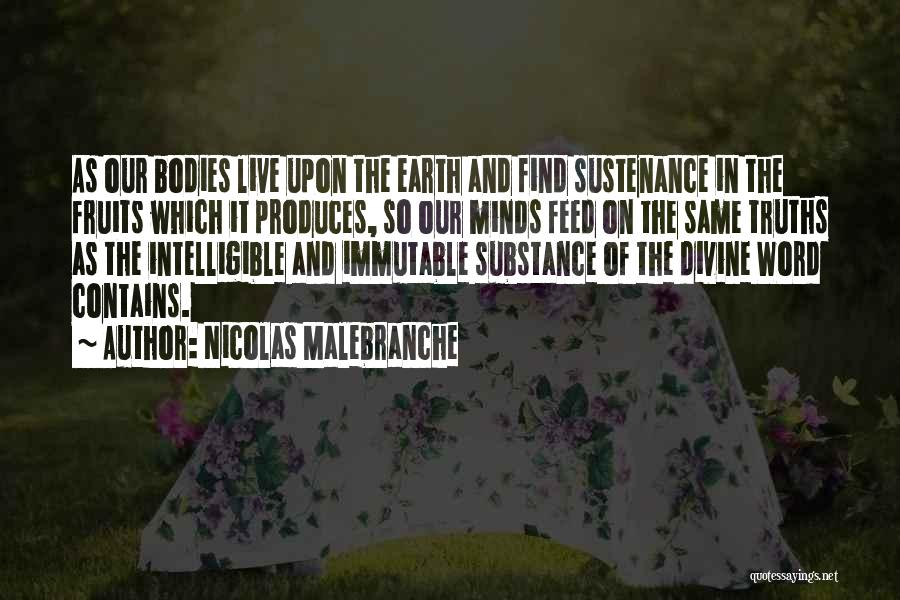 Intelligible Quotes By Nicolas Malebranche
