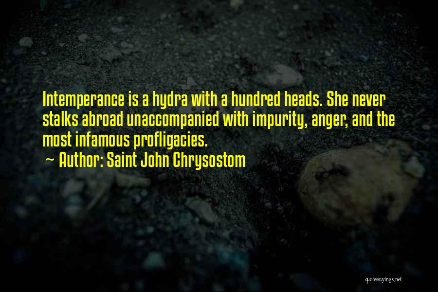 Intemperance Quotes By Saint John Chrysostom