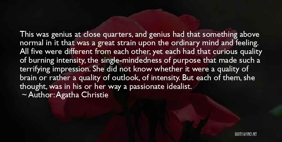 Intensity And Passion Quotes By Agatha Christie