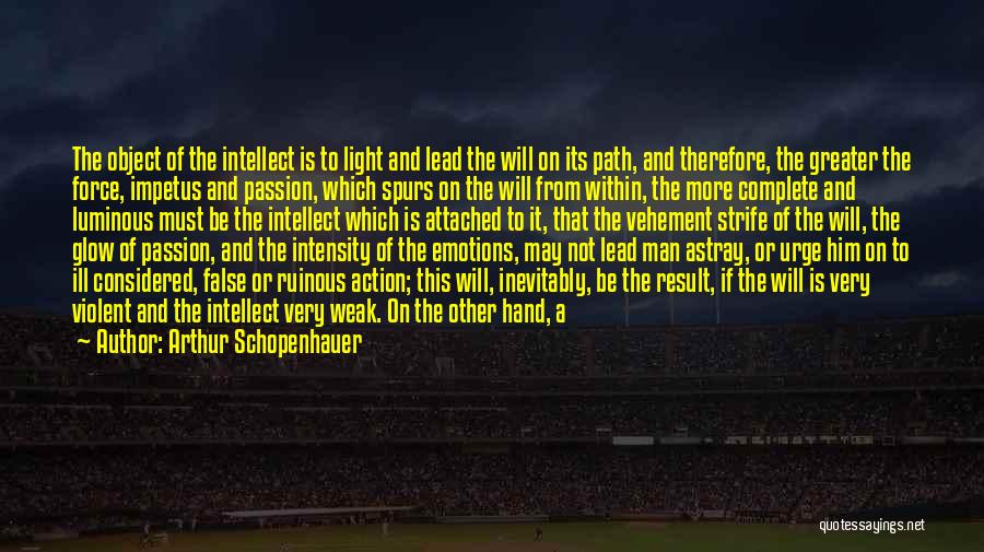 Intensity And Passion Quotes By Arthur Schopenhauer