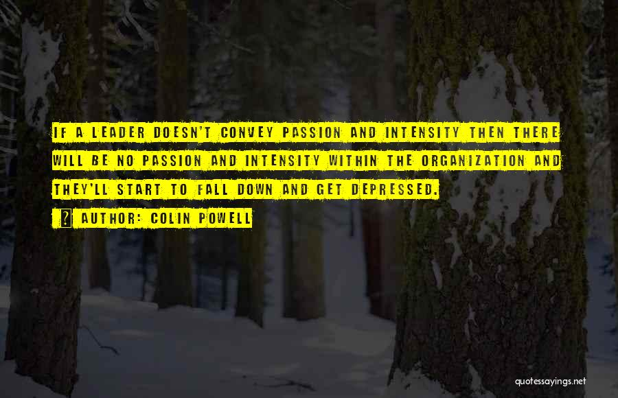 Intensity And Passion Quotes By Colin Powell