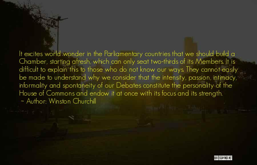 Intensity And Passion Quotes By Winston Churchill