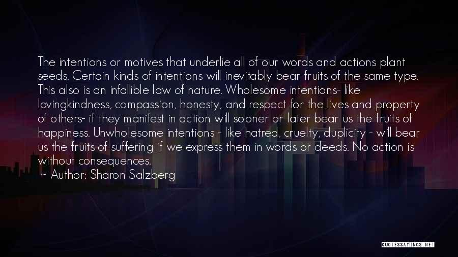Intentions And Motives Quotes By Sharon Salzberg