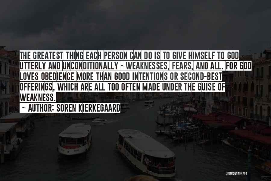 Intentions Quotes By Soren Kierkegaard