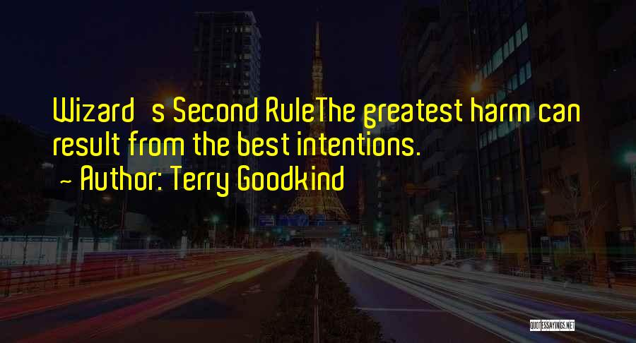 Intentions Quotes By Terry Goodkind