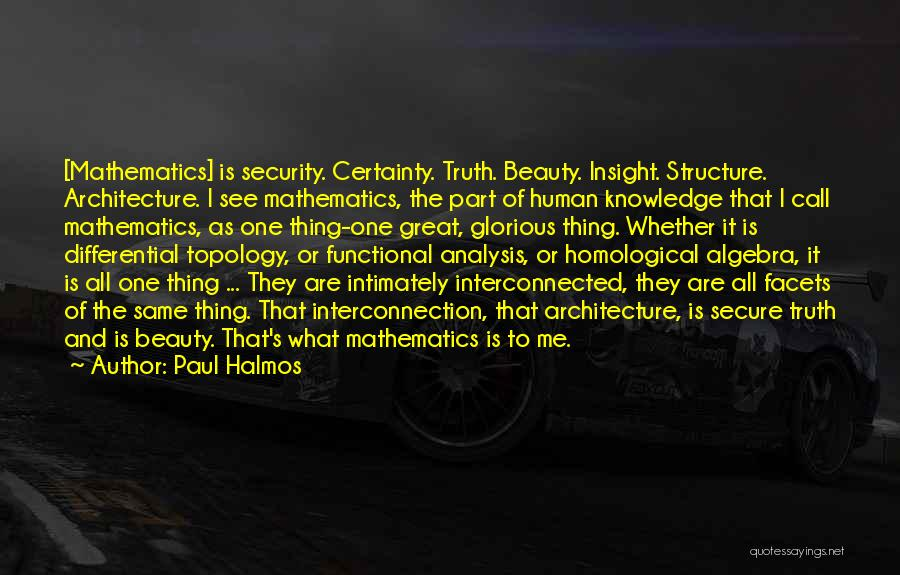Interconnection Quotes By Paul Halmos