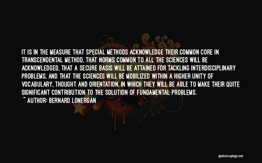 Interdisciplinary Quotes By Bernard Lonergan