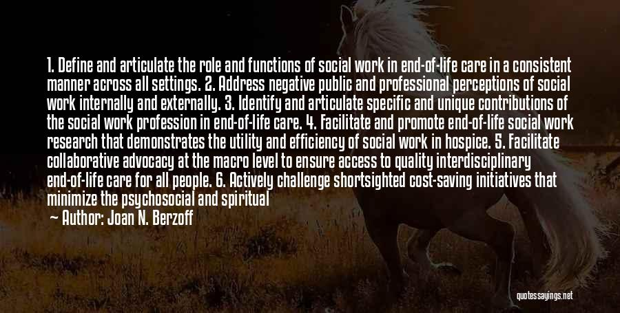 Interdisciplinary Quotes By Joan N. Berzoff