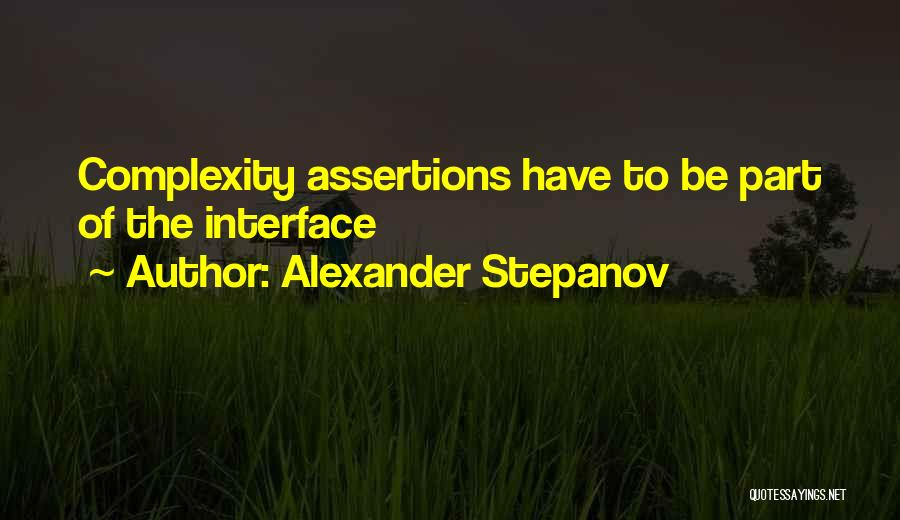 Interfaces Quotes By Alexander Stepanov
