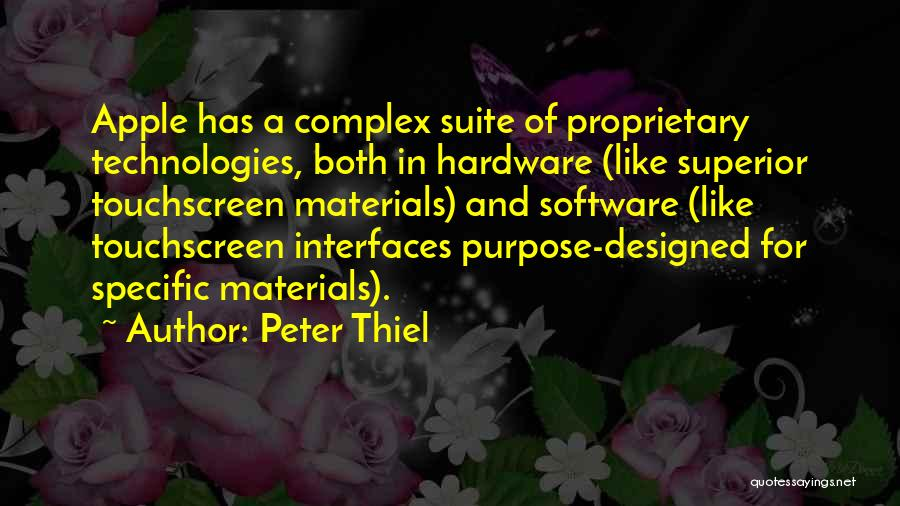 Interfaces Quotes By Peter Thiel