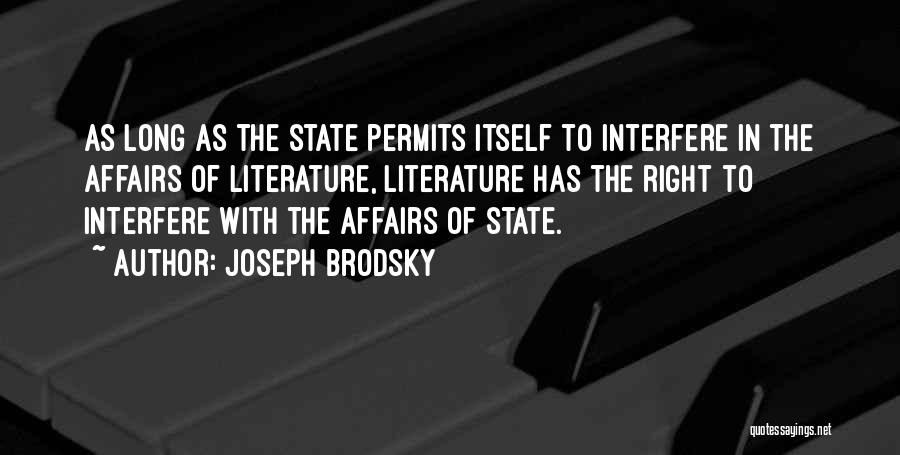 Interfere Quotes By Joseph Brodsky
