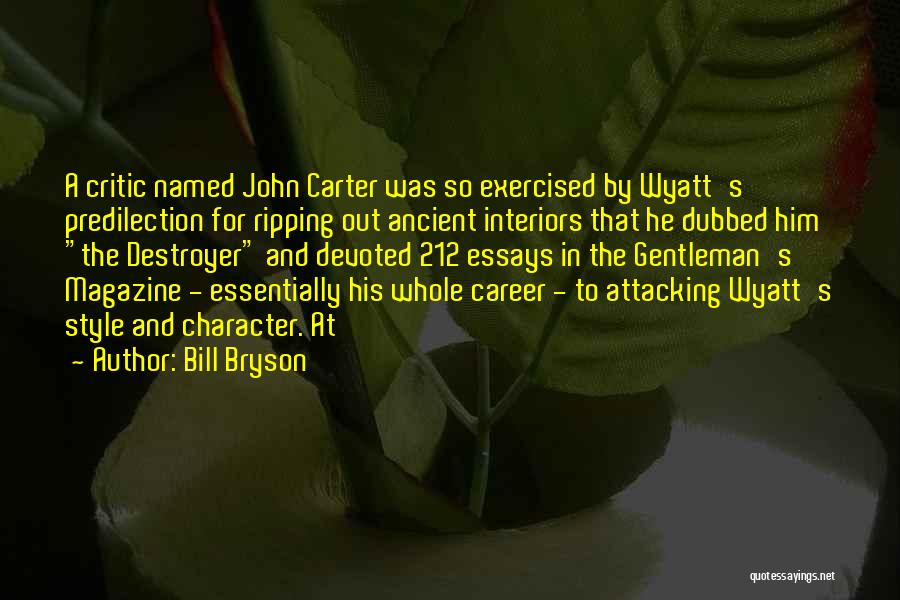 Interiors Quotes By Bill Bryson