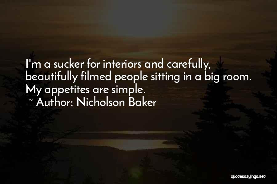 Interiors Quotes By Nicholson Baker