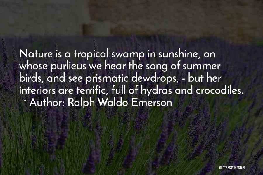 Interiors Quotes By Ralph Waldo Emerson