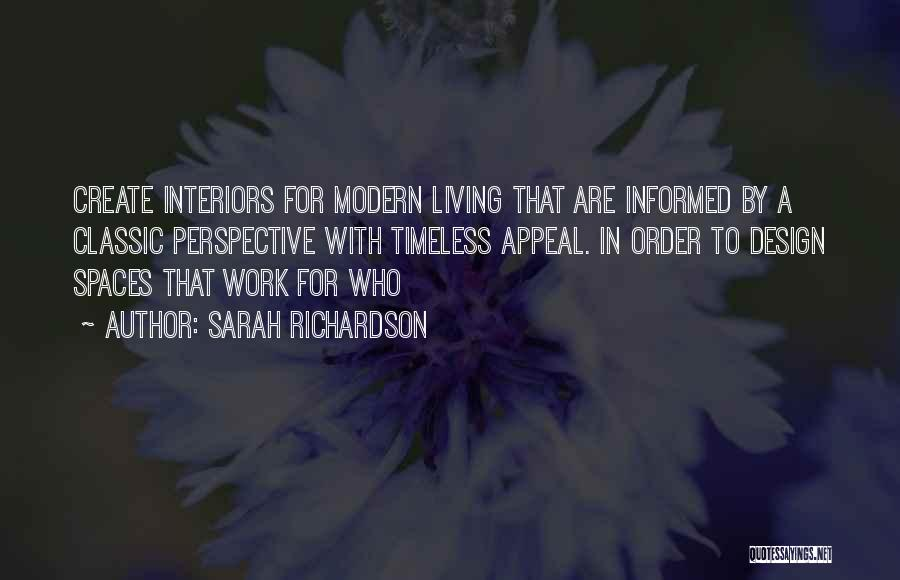 Interiors Quotes By Sarah Richardson