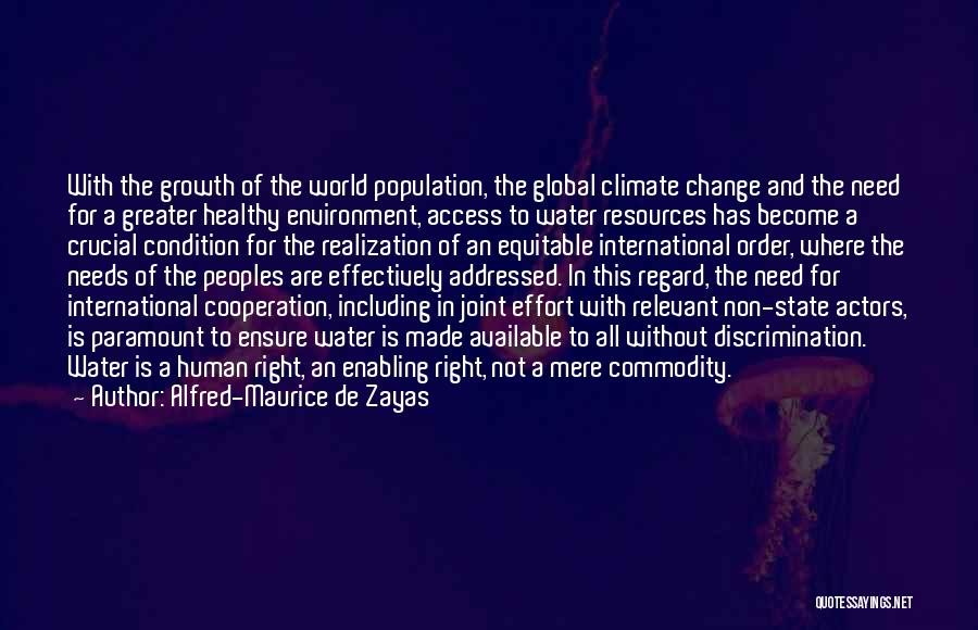 International Cooperation Quotes By Alfred-Maurice De Zayas