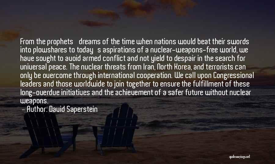 International Cooperation Quotes By David Saperstein
