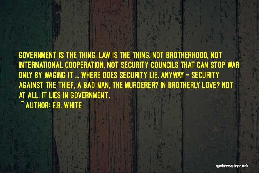 International Cooperation Quotes By E.B. White