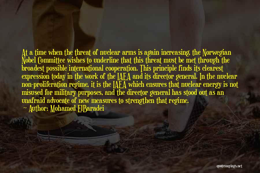International Cooperation Quotes By Mohamed ElBaradei