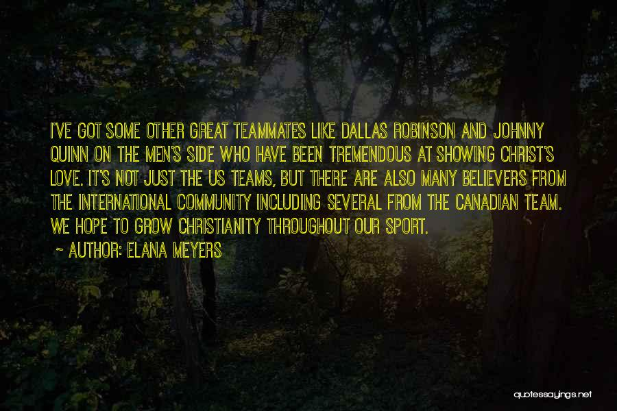 International Love Quotes By Elana Meyers