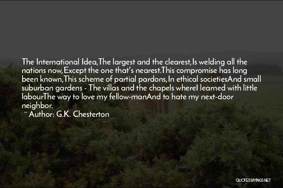 International Love Quotes By G.K. Chesterton