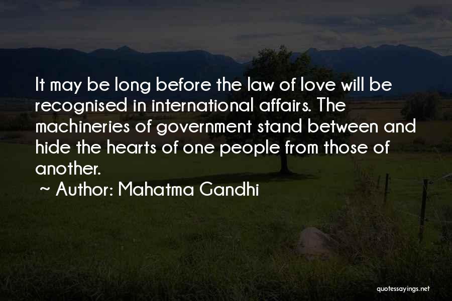 International Love Quotes By Mahatma Gandhi
