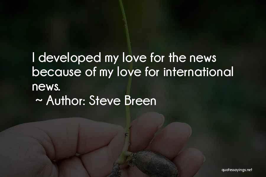 International Love Quotes By Steve Breen
