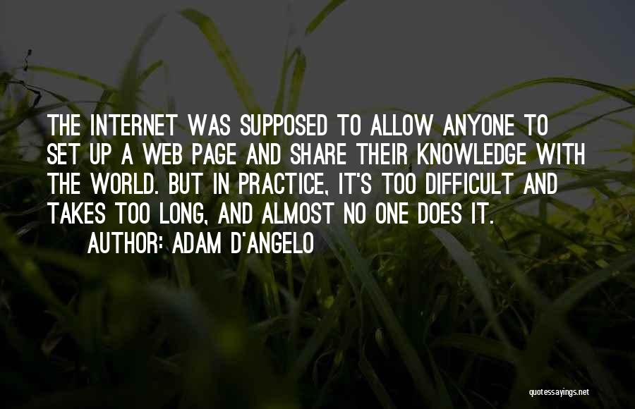 Internet And Knowledge Quotes By Adam D'Angelo