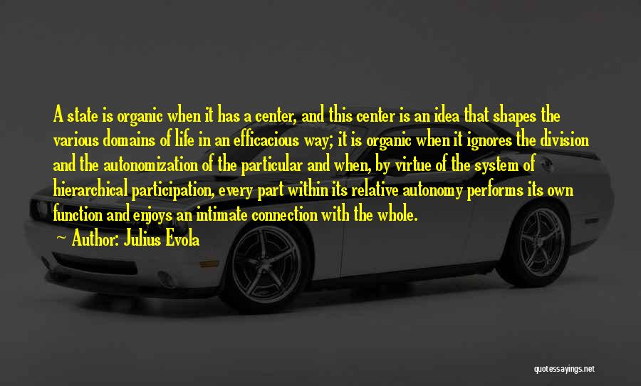 Intimate Connections Quotes By Julius Evola